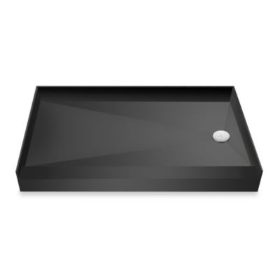 Tile Redi USA® Redi Base® 42-Inch x 60-Inch Single Curb Shower Pan with Right Drain
