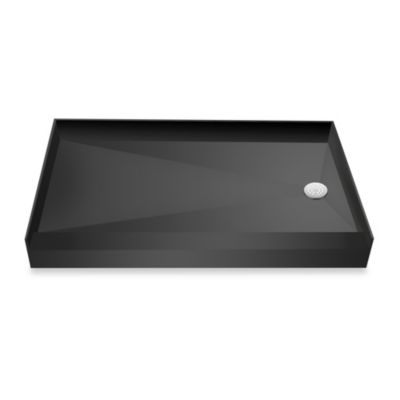 Tile Redi USA® Redi Base® 37-Inch x 60-Inch Single Curb Shower Pan with Right Drain