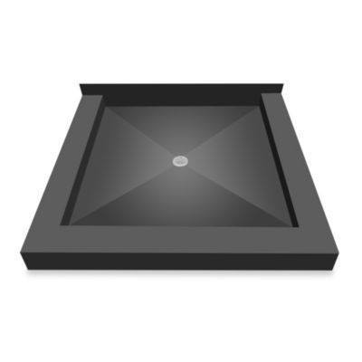 Tile Redi® Redi Base® 36-Inch x 36-Inch Triple Curb Shower Pan with Center Drain