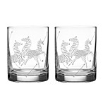 Lenox® Scalamandre Zebra Double Old Fashioned Glasses (Set of 2)