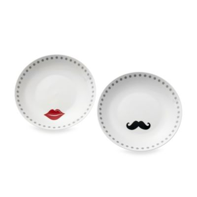 Oleg Cassini Kiss and Tell 8-Inch Dessert Plates (Set of 2)