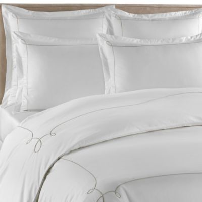 Barbara Barry Dream Lyrical Loop Queen Duvet Cover in Sterling