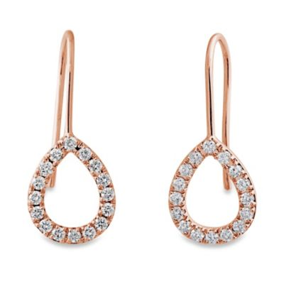Violet and Sienna 14K Rose Gold Open Pear Shape .48 cttw Diamond Earrings