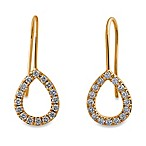 Violet and Sienna 14K Yellow Gold Open Pear Shape .48 cttw Diamond Earrings