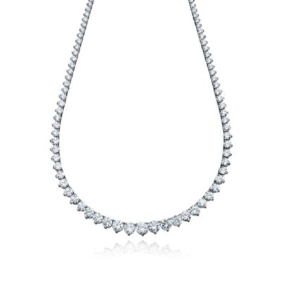 CRISLU Cubic Zirconia Tennis Necklace