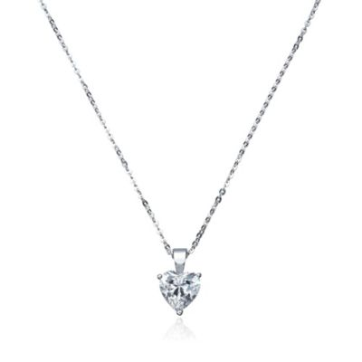 CRISLU Heart-Cut Cubic Zirconia on Sterling Silver Chain