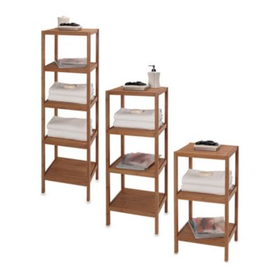 EcoStyles 4-Shelf Bamboo Tower