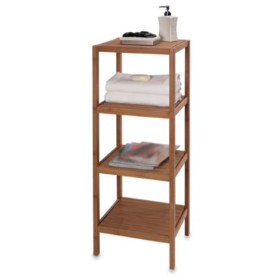 Creative Bath EcoStyles 4-Shelf Bamboo Tower