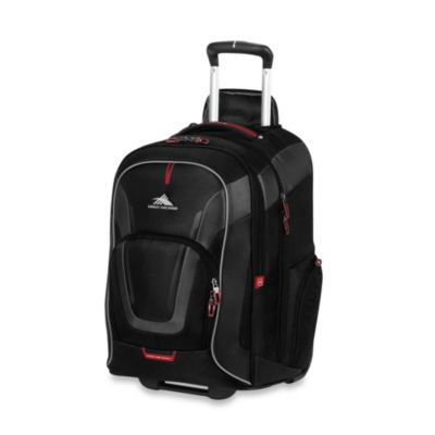 High Sierra AT-7 Wheeled Computer Backpack in Black