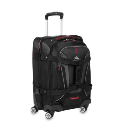 High Sierra® AT-7 Carry-On Spinner Convertible Backpack and Duffle in Black