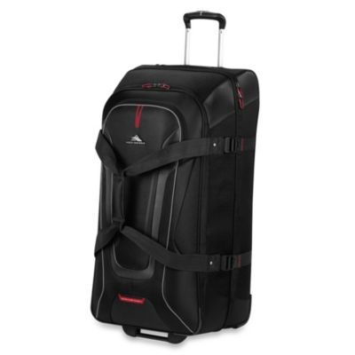 "High Sierra® AT-7 32"" Carry-On Wheeled Duffle with Backpack Straps in Black"