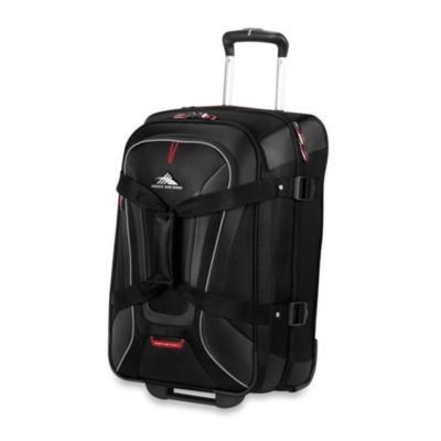 High Sierra AT-7 22-Inch Carry-On Wheeled Convertible Backpack and Duffle in Black