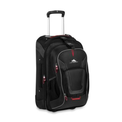 High Sierra AT-7 Wheeled Carry-On Backpack with Removable Daypack in Black