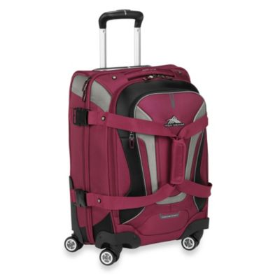 High Sierra AT-7 Carry-On Spinner Convertible Backpack and Duffle in Boysenberry