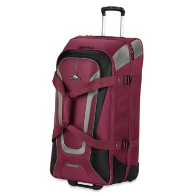 High Sierra AT-7 32-Inch Wheeled Carry-On Duffle with Backpack Straps in Boysenberry