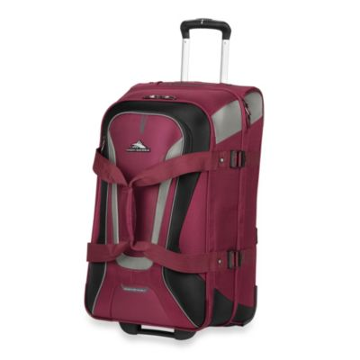 High Sierra AT-7 26-Inch Wheeled Carry-On Convertible Backpack and Duffle in Boysenberry