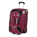 High Sierra AT-7 22-Inch Wheeled Carry-On Convertible Backpack and Duffle in Boysenberry
