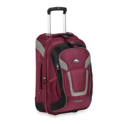 High Sierra AT-7 Wheeled Carry-On Backpack with Removable Daypack in Boysenberry