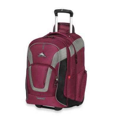 High Sierra AT-7 Wheeled Computer Backpack in Boysenberry