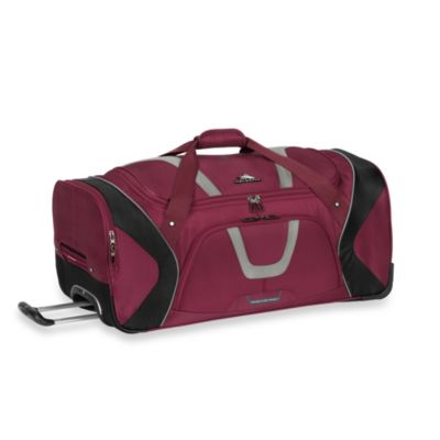High Sierra AT-7 30-Inch Wheeled Cargo Duffle in Boysenberry