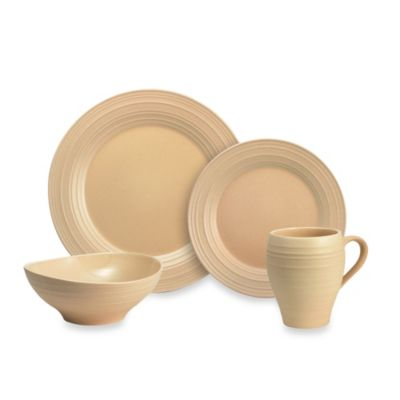 Mikasa® Swirl 4-Piece Place Setting in Tan