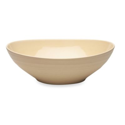 Mikasa® Swirl Oval Vegetable Bowl in Tan