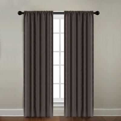CityLinen Linen 96-Inch Rod Pocket Window Curtain Panel in Java