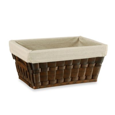 Neu Home Small Wood Chip Basket in Natural