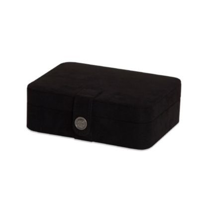 Mele & Co. Giana Plush Fabric Jewelry Box in Black