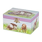 Mele & Co. Blossom Musical Horse Jewelry Box