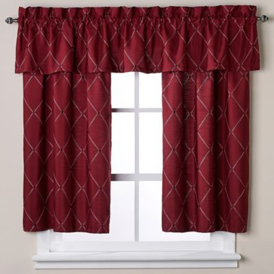 Wellington Window Curtain Tier Pair in Wine
