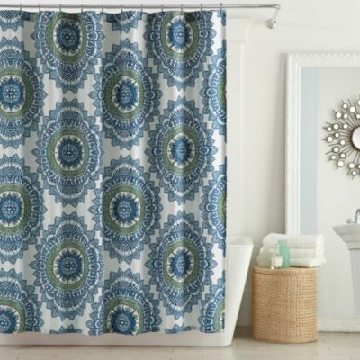 Anthology™ Bungalow 72-Inch x 72-Inch Shower Curtain in Teal