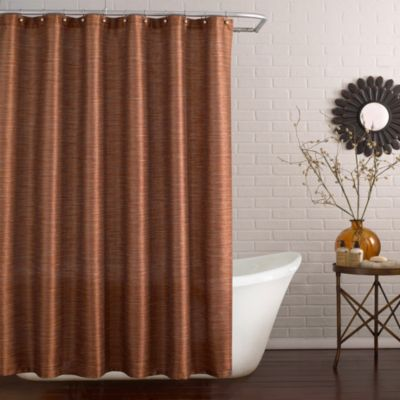 Deron 72-Inch x 84-Inch Long Shower Curtain in Vermillion