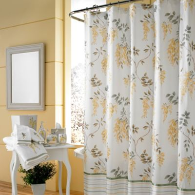 J. Queen New York™ Citron 84-Inch Shower Curtain