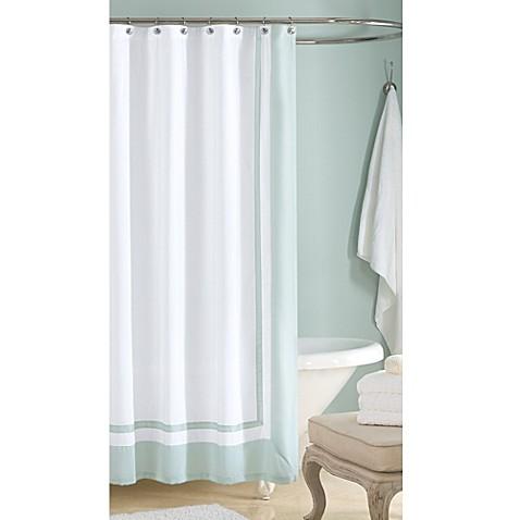 wamsutta hotel shower curtain in aqua bed bath beyond