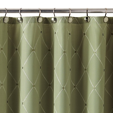 Buy Wellington 72 Inch X 84 Inch Shower Curtain In Green