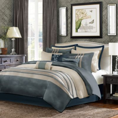 Sellick 12-Piece Comforter Super Set in Blue