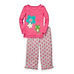 Carter's® Pink with Daisy and Fun Frog Cotton and Fleece 2-Piece PJs