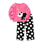 Carter's® Pink with Panda Cotton and Fleece 2-Piece PJs