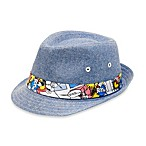Chambray Fedora with Comic Strip Band