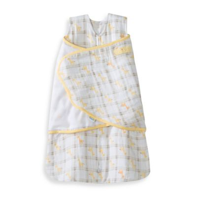 HALO® SleepSack® Newborn Cotton Muslin Swaddle in Yellow Giraffe