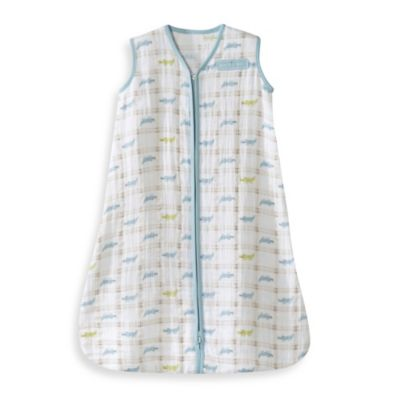 HALO® SleepSack® Size Small Cotton Muslin Wearable Blanket in Blue Alligator
