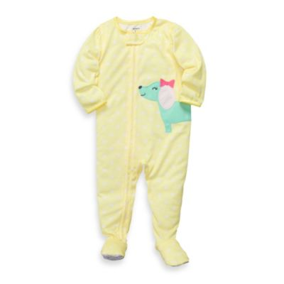 Carter's® White Baby Chicks Jersey 1-Piece Footed PJs