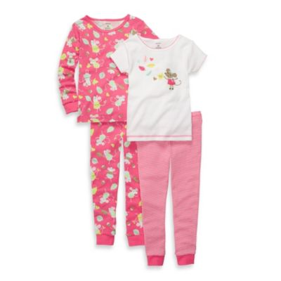 Carter's® White Mouse Snug Fit 4-Piece PJs