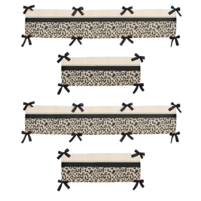 Sweet Jojo Designs Animal Safari 4-Piece Crib Bumper