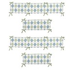 Sweet Jojo Designs Argyle Crib Bumper in Blue/Green