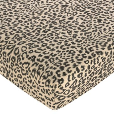 Sweet Jojo Designs Animal Safari Fitted Crib Sheet in Animal Print