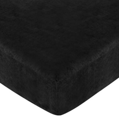 Black Fitted Crib Sheet