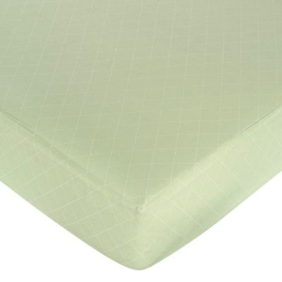 Sweet Jojo Designs Argyle Crib Sheet in Green