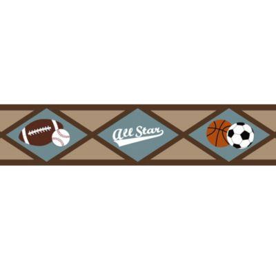 Sweet Jojo Designs All Star Sports Wall Paper Border